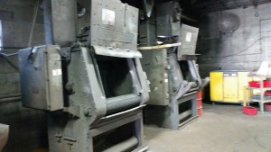 EFCO metal finishing's tumble blast area within the Butler WI facility