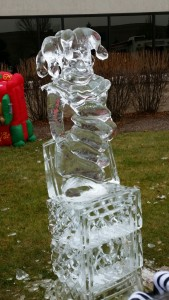 Ice sculpture at KAPCO's Kids2Kids Event!