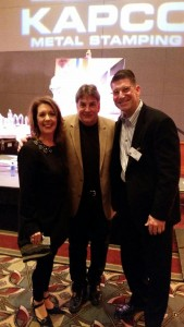 Terry & April Schultz of EFCO Finishing Pose with Jim Kacmarcik of Kapco