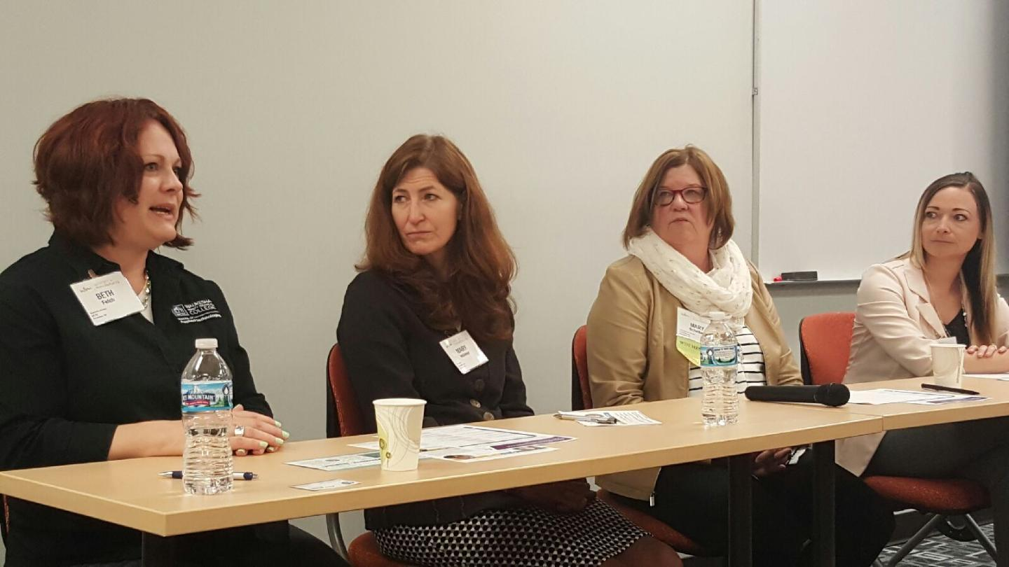 Speaker panel at Women In Manufacturing WI Event