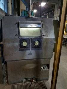 Front view, Blast Cabinet