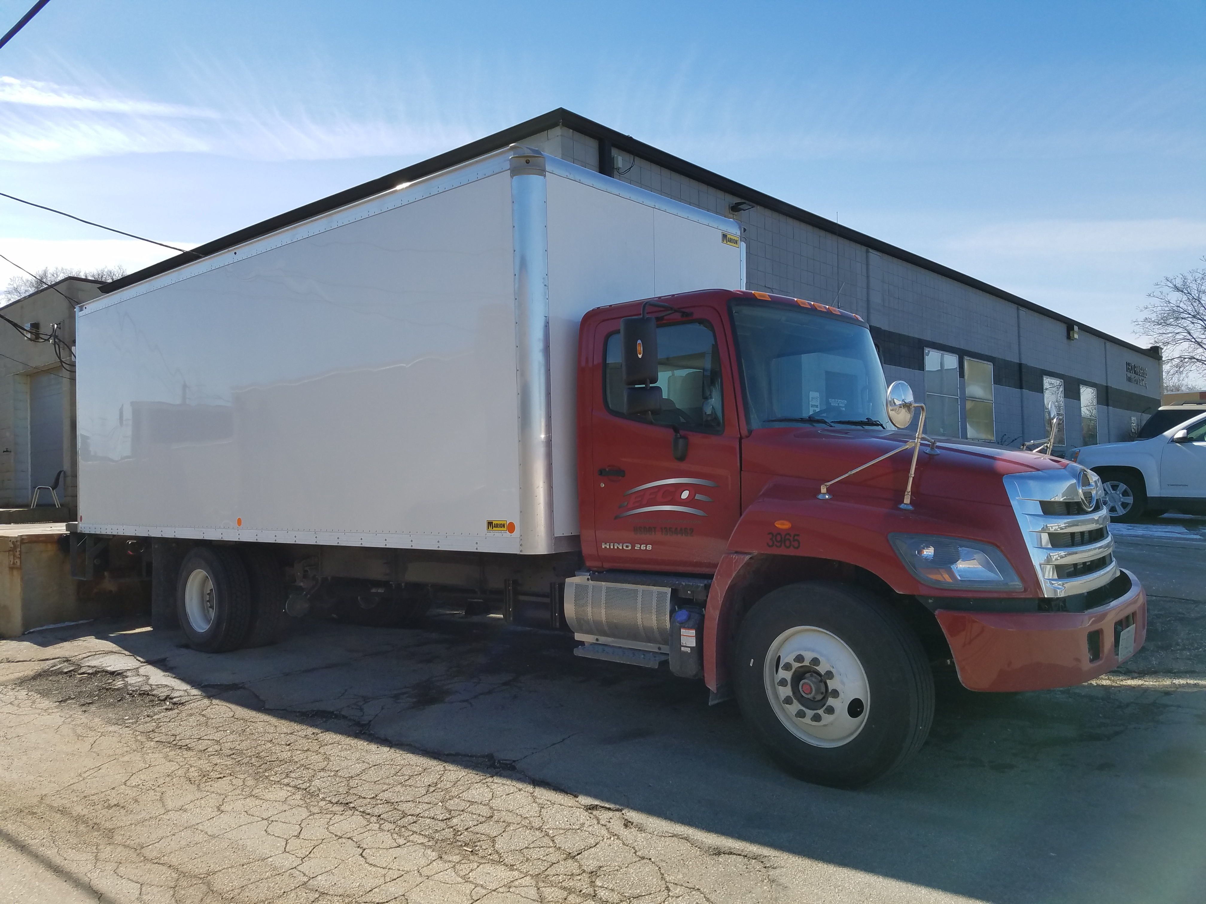EFCO Metal Finishing pickup & delivery truck