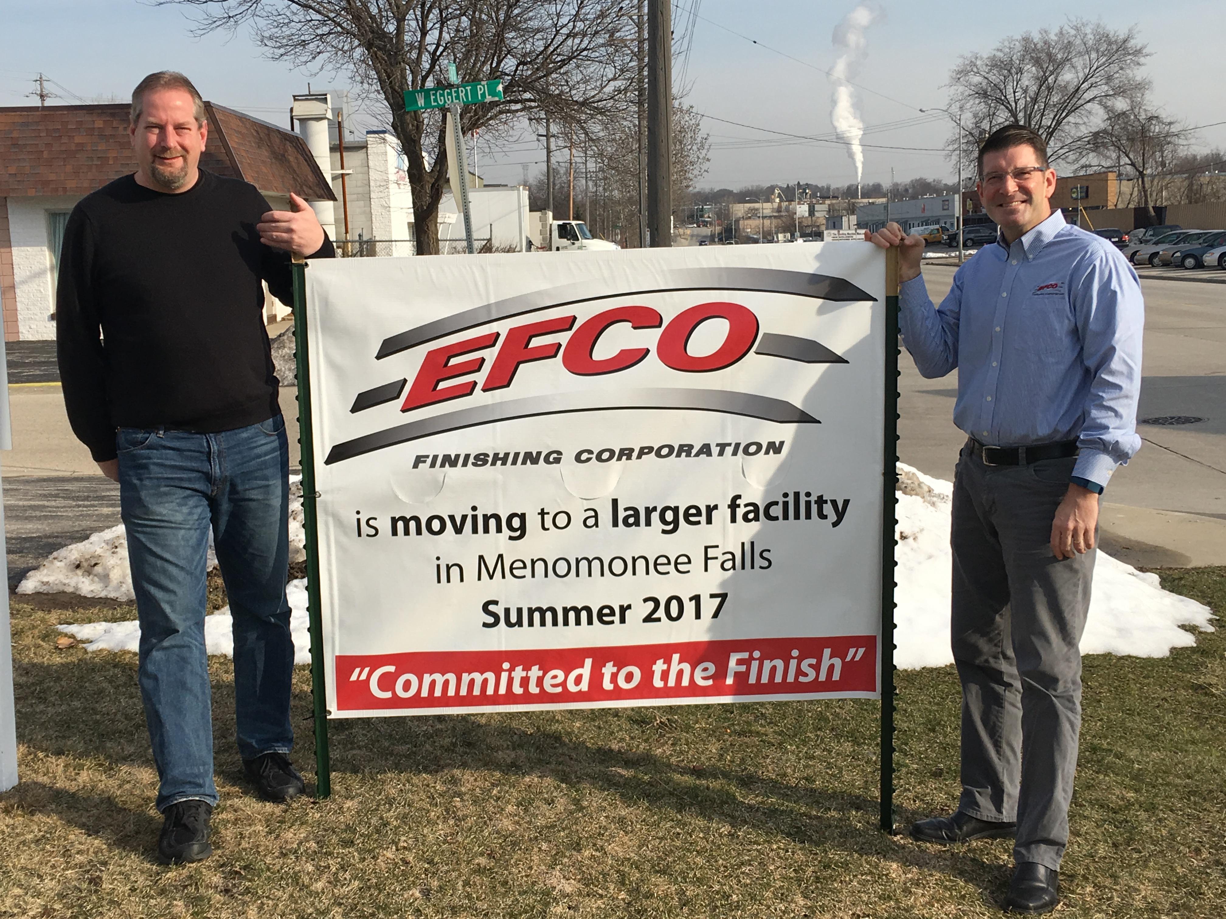 EFCO Metal Finishing Relocated to Menomonee Falls Wisconsin Facility
