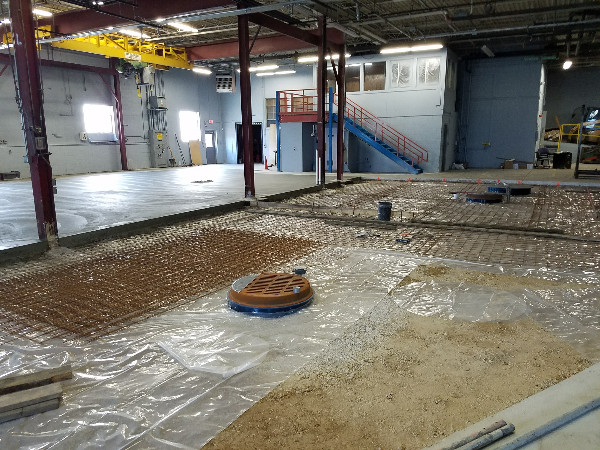 Pouring the Vibratory Finishing Room floor at EFCO's new Milwaukee WI Metal Finishing Facility
