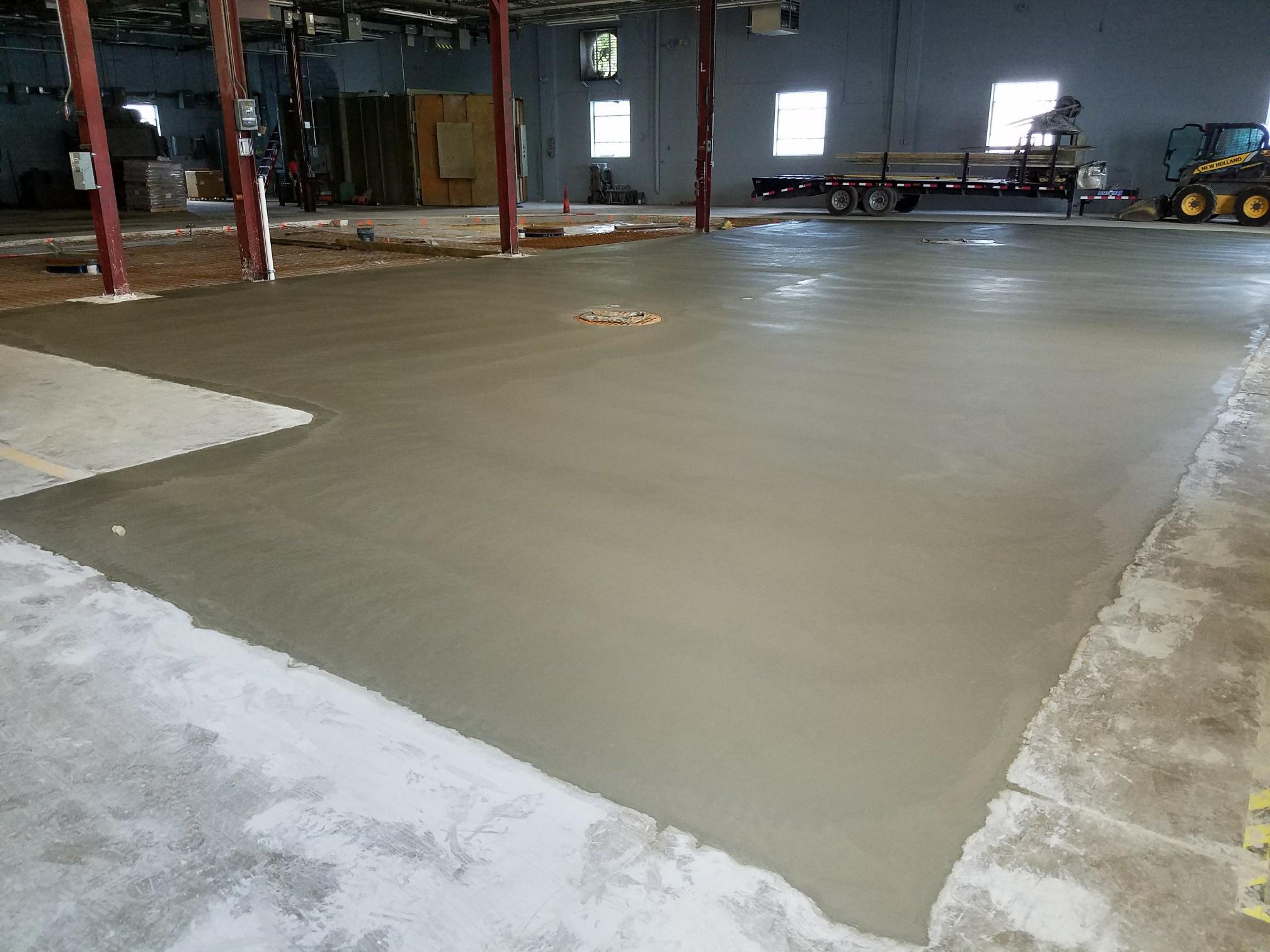 EFCO Metal Finishing installs new floor for vibratory finishing in Menomonee Falls, WI location