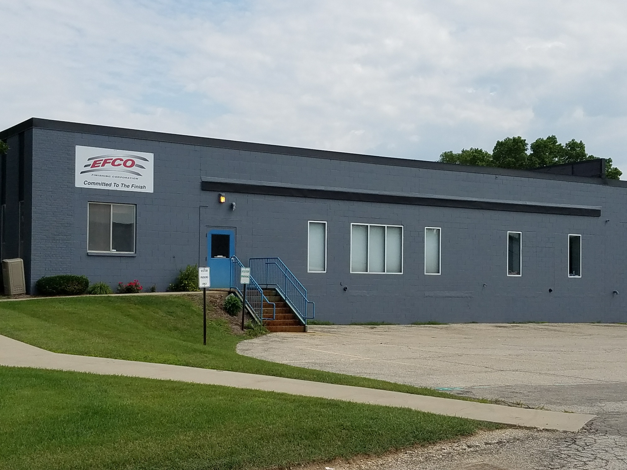 Exterior of EFCO Finishing's new Menomonee Falls facilities