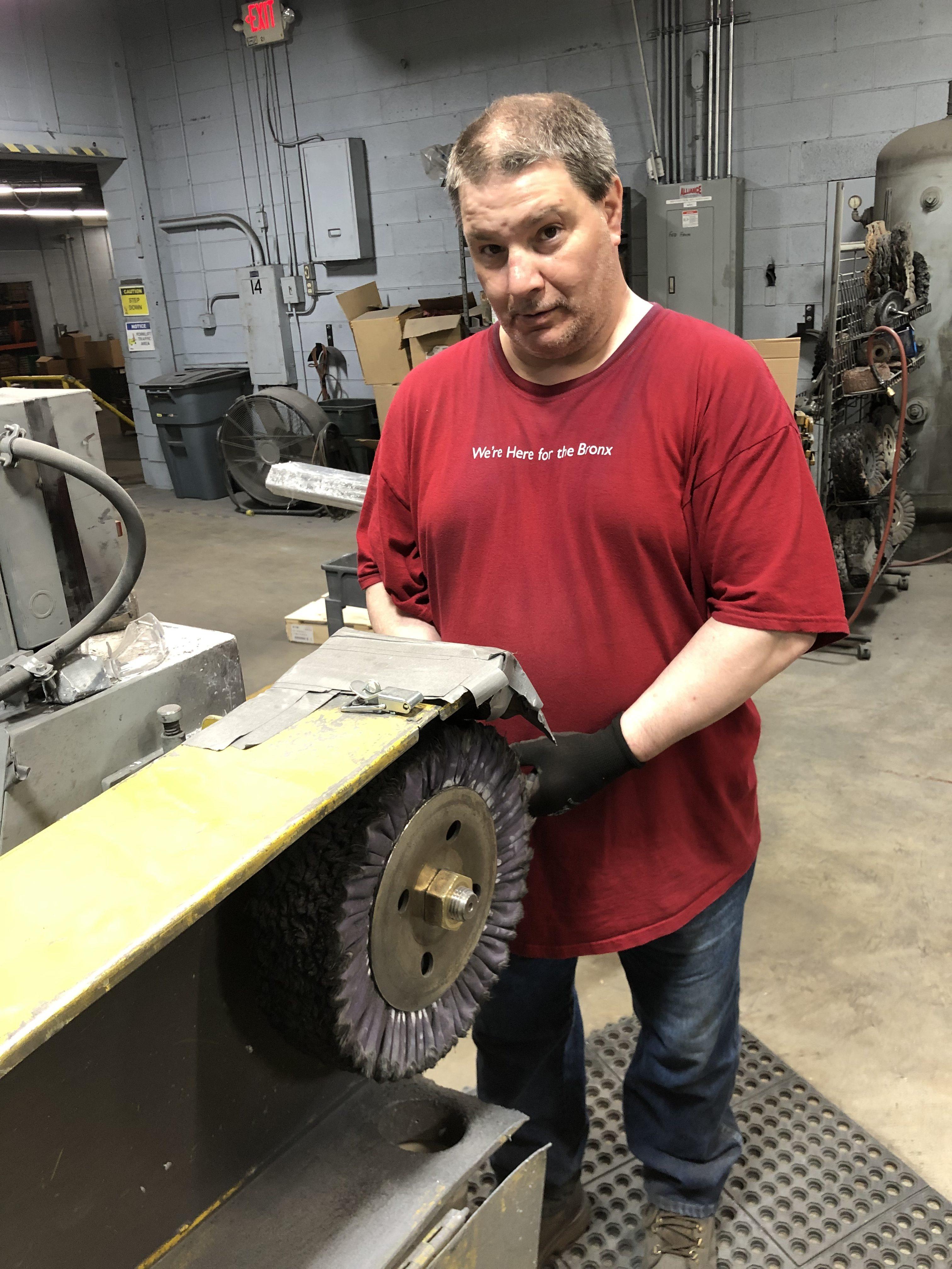 Meet Mike D'Amato-EFCO Finishing's Custom Metal Polisher